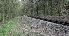 Dobříšská větev trati č. 210 u Mokrovrat