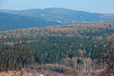Výhled z Vlče na Korunu