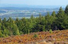 Pohled z Houpáku na Příbramsko