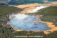 Padrťské rybníky, z nich Hořejší vypuštěn