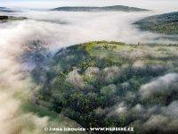 Přírodní památka Vinice, nad ní ves Běřín