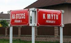 Příznačná pojmenování ulic v místech, kde stezka vstupuje do dnešního intravilánu Příbrami
