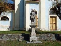 Sv. Florián u kostela v Mirošově