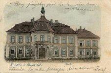 Mirošovský zámek, zahradní průčelí