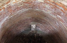 Kolomazná pec v Plzni - Bolevci, nově vyztužený vnější plášť
