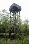 """Jedna z věží sloužících ke střežení technického úseku """"C"""""""