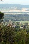 Výhled z úbočí Prahy na Voltuš