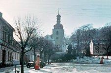 Horní strana zbirožského náměstí, 1961